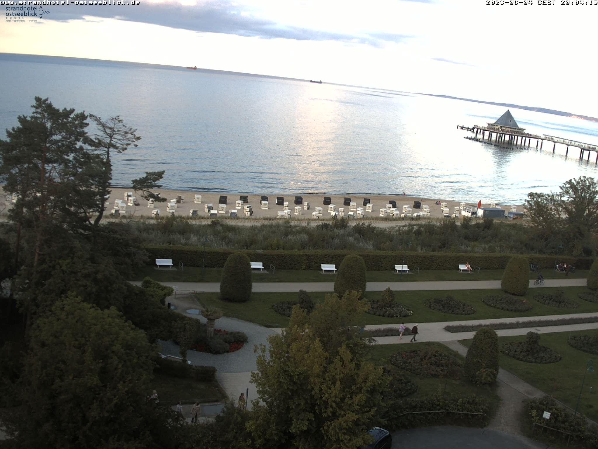 Webcam Heringsdorf mit Blick auf die Seebrücke